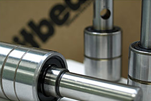 Image of water pump bearing case study and integral shafted bearings.