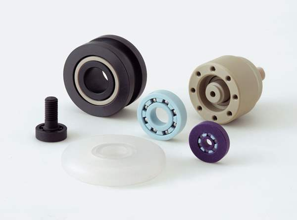 Image of a miniature plastic ball bearing