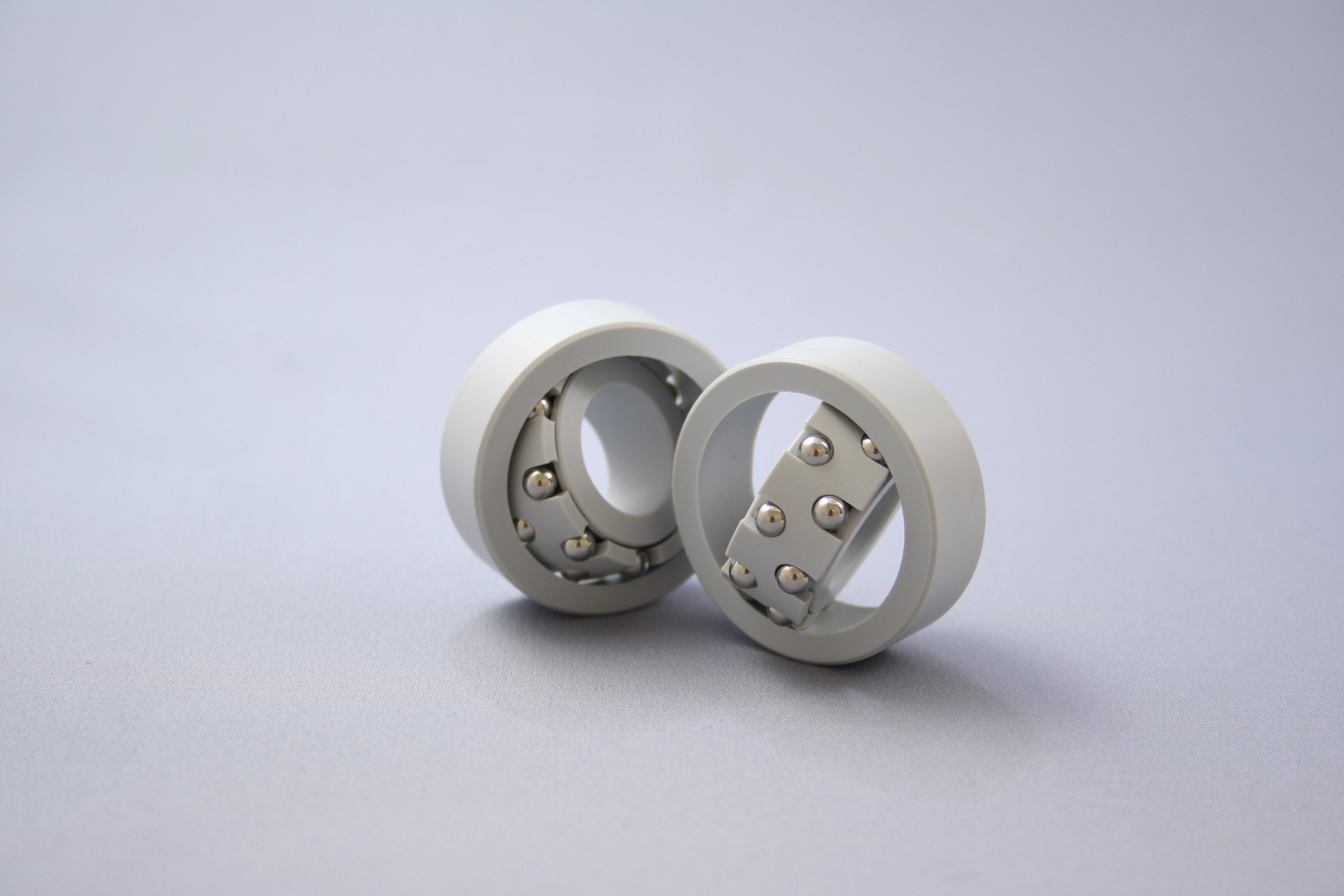 Plastic bearings for a variety of applications.
