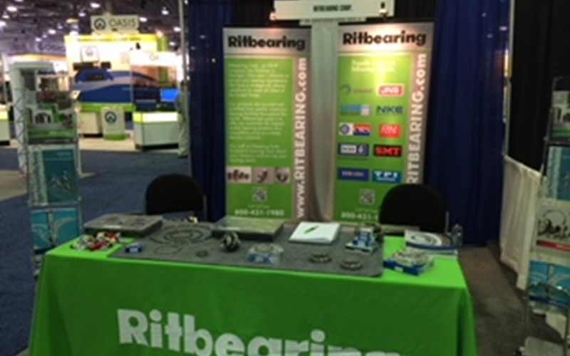 Ritbearing trade show booth.