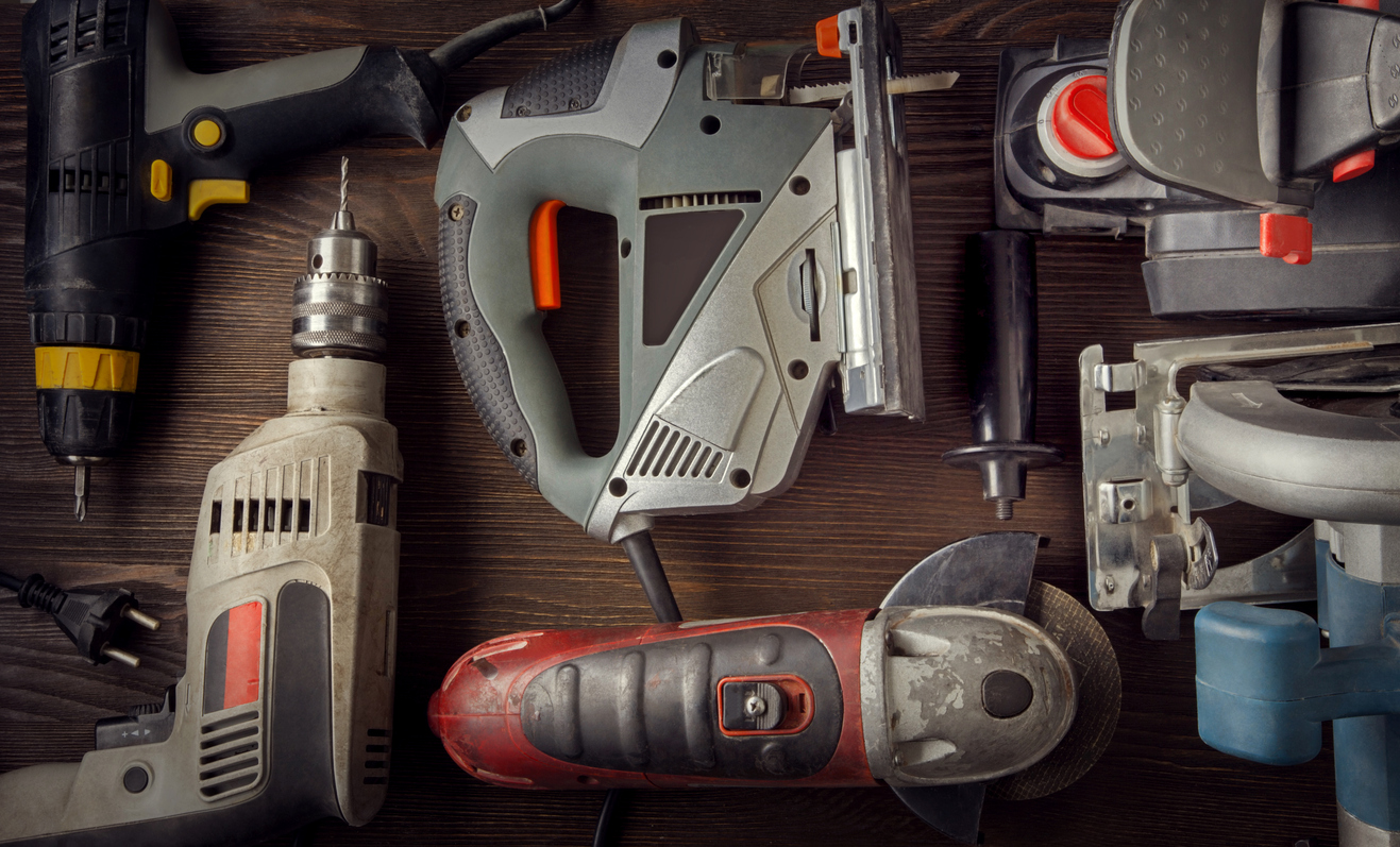 Power tools made with bearings designed for use in handheld power tools.